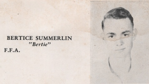 Bertice Summerlin, Class of 1949, Nashville High School, Berrien County, GA