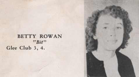 Betty Rowan, Class of 1949, Nashville High School, Berrien County, GA