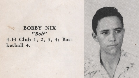 Bobby, Class of 1949, Nashville High School, Berrien County, GA