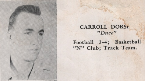 Carroll Dorsey, Class of 1949, Nashville High School, Berrien County, GA