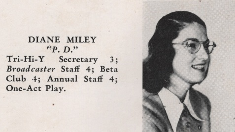 Diane Miley, Class of 1949, Nashville High School, Berrien County, GA