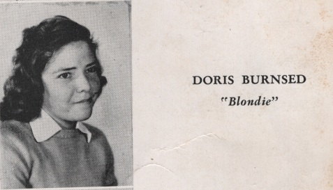 Doris Burnsed, Nashville High School Class of 1949, Berrien County, GA