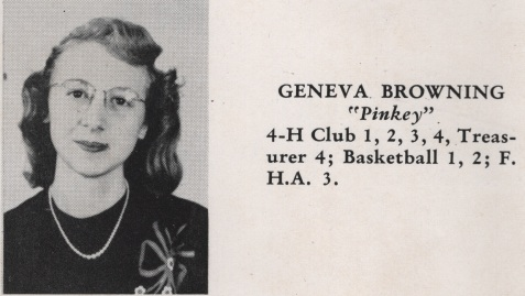 Geneva Browning, Class of 1949, Nashville High School, Berrien County, GA