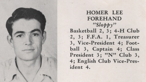 Homer Lee Forehand, Class of 1949, Nashville High School, Berrien County, GA