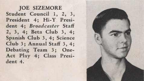 Joe Sizemore, Class of 1949, Nashville High School, Berrien County, GA