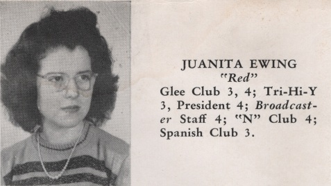 Juanita Ewing, Class of 1949, Nashville High School, Berrien County, GA