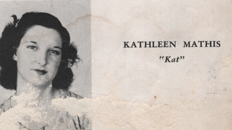 Kathleen Mathis, Class of 1949, Nashville High School, Berrien County, GA