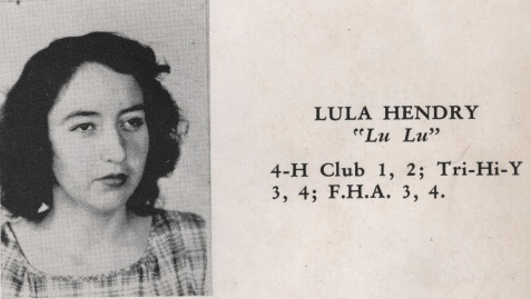Lula Hendry, Class of 1949, Nashville High School, Berrien County, GA