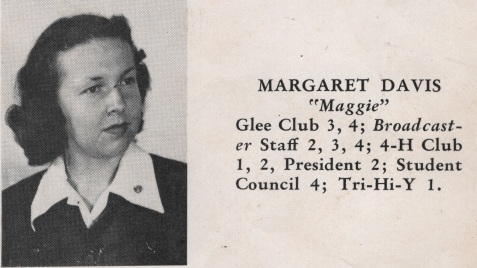 Margaret Davis, Class of 1949, Nashville High School, Berrien County, GA