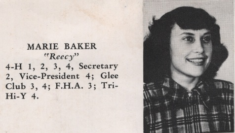 Marie Baker, Class of 1949, Nashville High School, Berrien County, GA