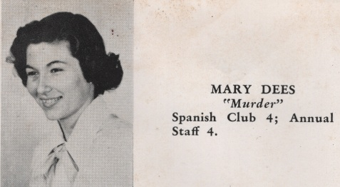 Mary Dees, Class of 1949, Nashville High School, Berrien County, GA