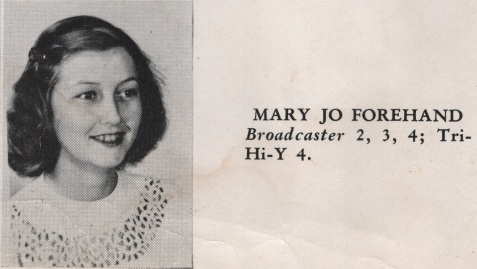 Mary Jo Forehand, Class of 1949, Nashville High School, Berrien County, GA