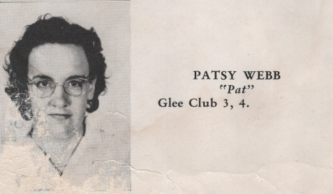 Patsy Webb, Class of 1949, Nashville High School, Berrien County, GA