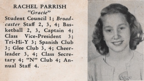 Rachel Parrish, Class of 1949, Nashville High School, Berrien County, GA