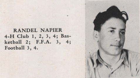 Randel Napier, Class of 1949, Nashville High School, Berrien County, GA