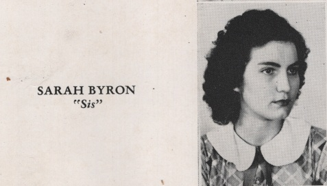 Sarah Byron, Class of 1949, Nashville High School, Berrien County, GA