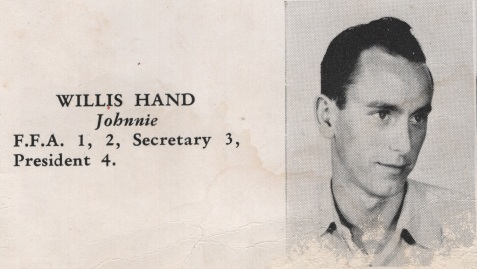 Willis Hand, Class of 1949, Nashville High School, Berrien County, GA