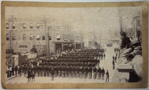 Seventh Army Corps passing in review, 1898