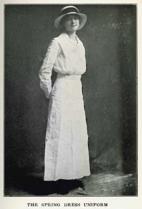 1913 Spring dress uniform of the ladies of South Georgia State Normal College (Valdosta State University).
