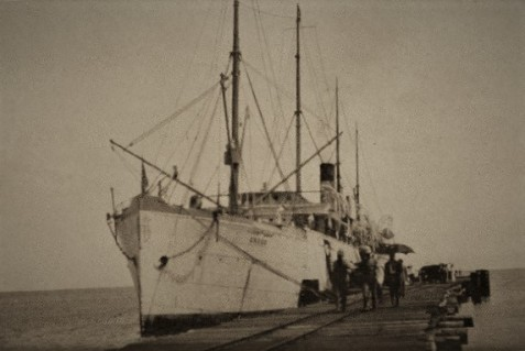 Former SS Roumanian (USAT Crook) photographed in 1929