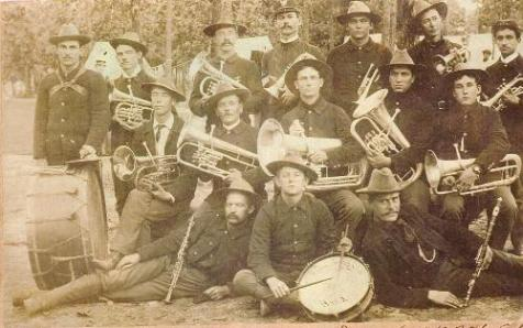 Regimental Band of the 3rd Georgia Regiment U.S. Volunteers, Spanish American War. Image source: http://www.spanamwar.com/3rdGeorgiaband.htm