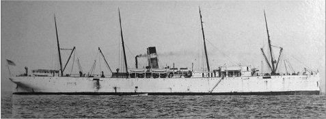 Former SS Roumanian (USAT Crook) at sea.