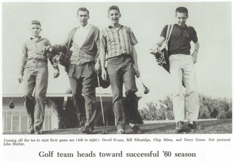 Class of 1960, Bill Etheridge, Gainesville High School Golf Team, Gainesville, FL