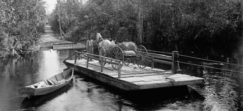 Independent ferry operators were authorized by the Georgia Legislature to provide river crossings on the Coffee Road.