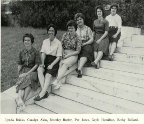 "Psychology Club, 1963, Wesleyan College, Macon, GA <br> ""The objective of a study of PSYCHOLOGY is to understand the abilities, motives, thoughts, and actions of people. Understanding of self and of others is a primary goal. The study is designed to help a person in all areas of life, especially as a Christian, as a homemaker, and as a member of a civic and social group."""