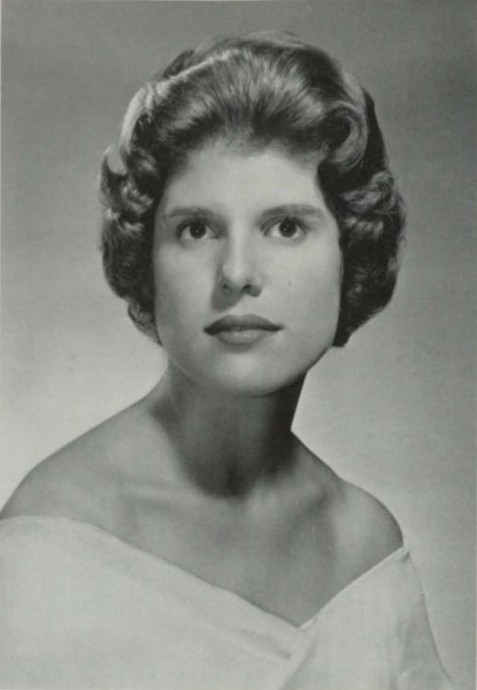 Margaret Rebecca Bullard 1963 yearbook photo, Wesleyan College, Macon, GA