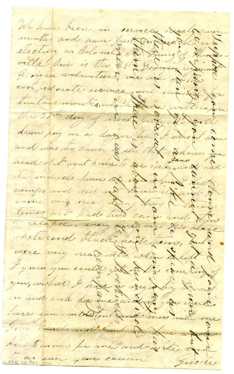 scan of letter