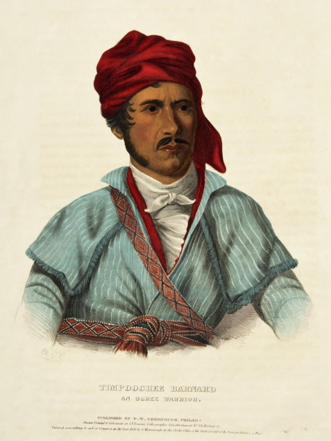Timpoochee Barnard, son of Timothy Barnard, conveyed intelligence from Aumuculle (Chehaw) village on the movement of hostile Red Stick Indians.