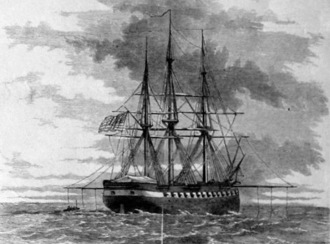 USS Savannah. On Nov 1, 1861 the Savannah was stationed off Tybee Island, blockading the port of Savannah.