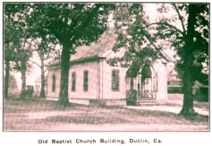 Old Baptist Church Building , Dublin, GA. Carl Winn Minor taught at this church while attending Mercer University in the 1890s.