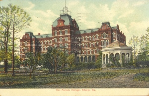 Cox Female College, Atlanta, GA. Carl Winn Minor was president of the college from 1917 to 1926..