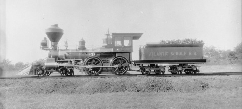 Satilla locomotive, Atlantic & Gulf Railroad, iron horse