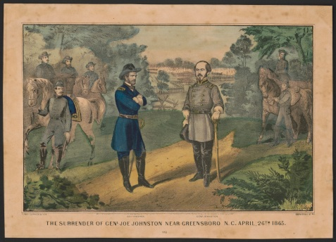 The surrender of Genl. Joe Johnston near Greensboro N.C., April 26th 1865 http://hdl.loc.gov/loc.pnp/pga.09915