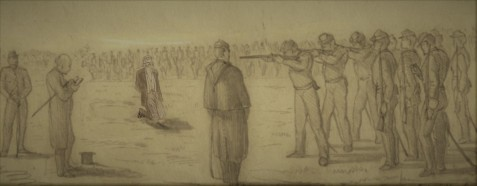 Civil War deserter executed by firing squad.