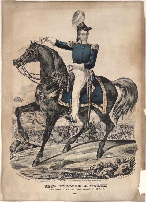 William Jenkins Worth, as a colonel in 1841 was in command of U.S. forces in the Florida Territory during the Second Seminole War.